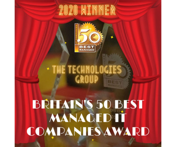 3rd Award Win for The Technologies Group, named as one of the UK's Top 50 Best Managed IT Companies